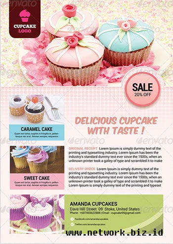 Cupcake Flyer Template