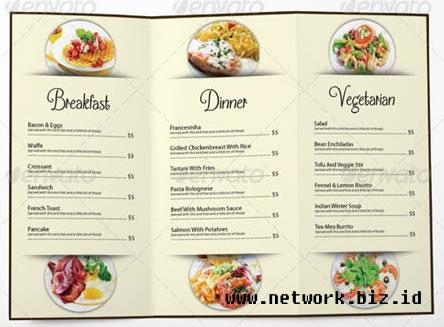 Psd Contoh Template Untuk Menu Restoran Networkbizid