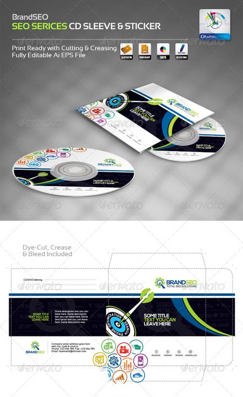 Creative CD Sleeve - Sticker