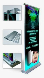 Roll Up Electric Banner
