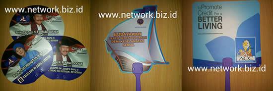 kipas promosi - kipas kampanye - bahan plastik pp - ppc
