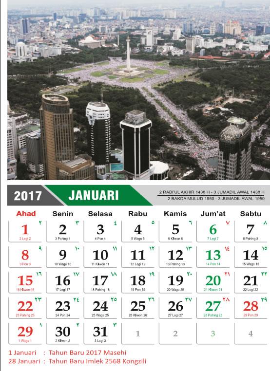 Download Kalender Dinding dan Meja Bela Islam 212 2017