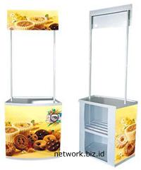 Event Desk - Meja Pameran - Booth Portable PVC Putih Luxury